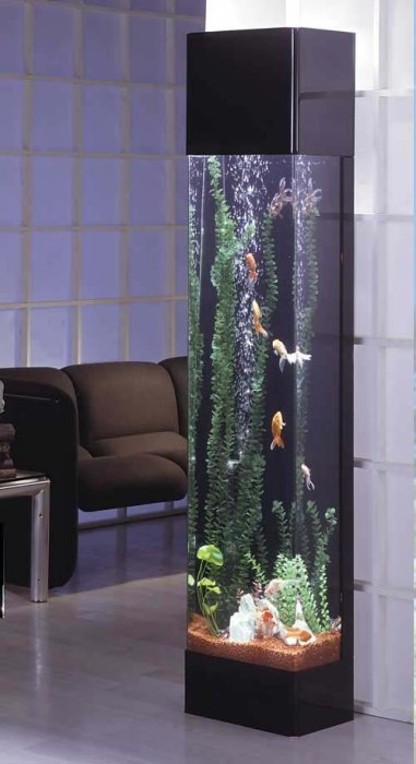 Column cylindrical aquariums us aquarium leasing for Cylindrical fish tank